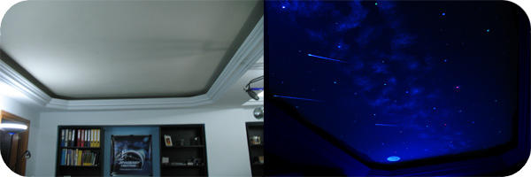 Franciza SpaceArt Conceptul de Afaceri cu Decoratiuni Interioare SpaceArt Cer Instelat in Dormitor Invizibil ziua fascinant noaptea