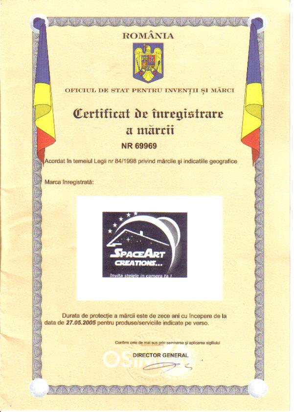 Marca Inregistrata Franciza SpaceArt cu Decoratiuni Interioare Amenajari Unicat Cer Instelat in Dormitor